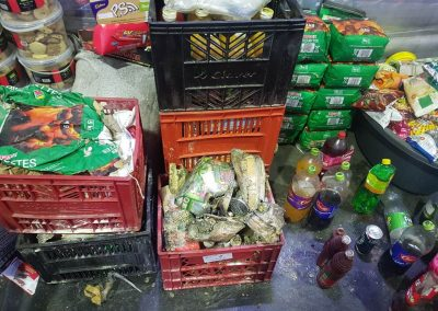 FOOD CLAIM - FIRE DAMAGED